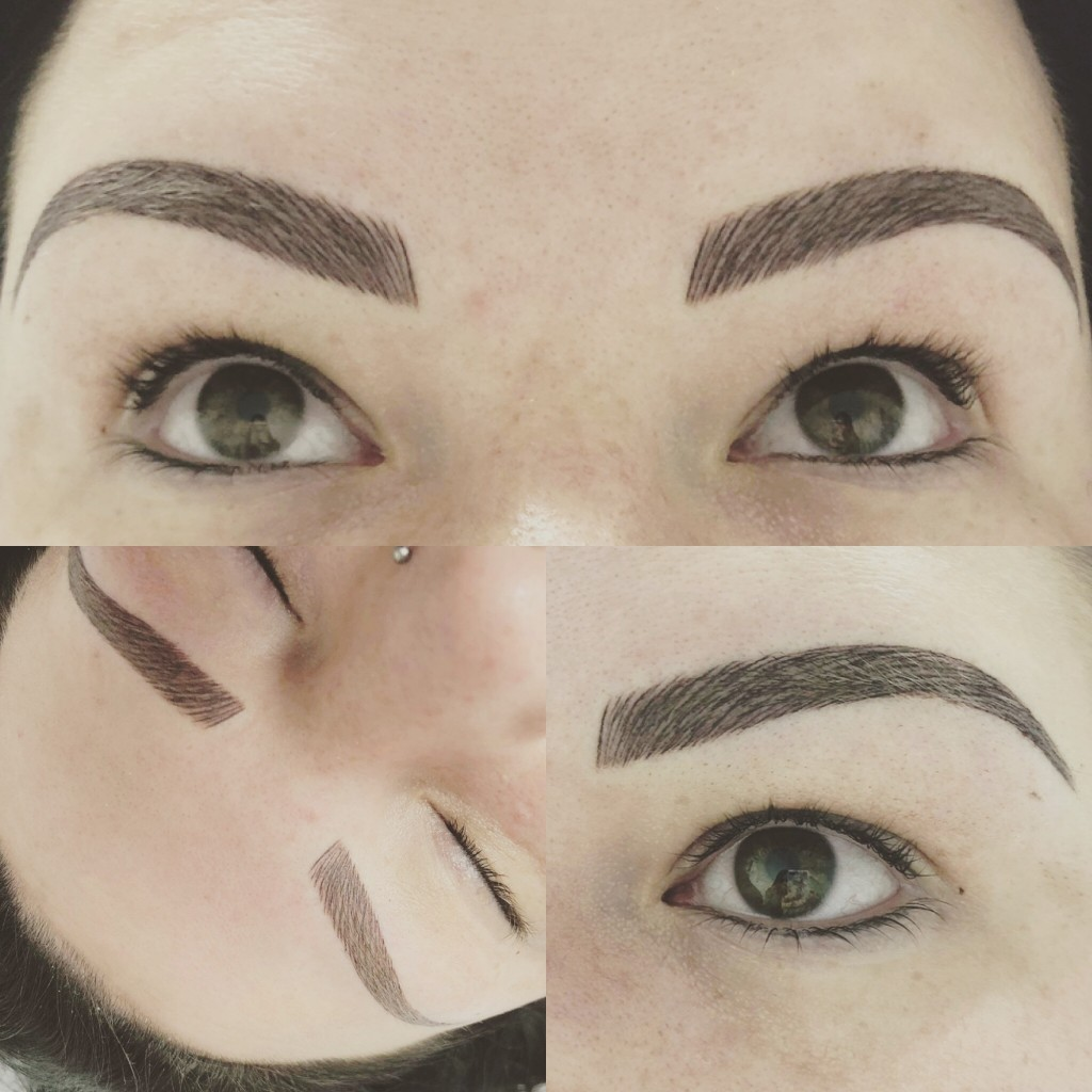 The ENTIRE process of semi permanent eyebrows ...