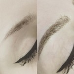 Soft and natural hair stroke eyebrows